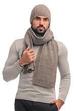 Чоловік комплект шапка і шарф шерсть - 70%