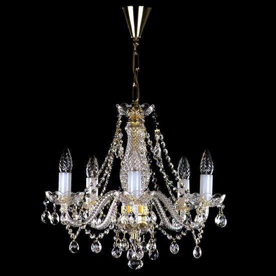 Хрустальная люстра для спальни, зала на 5 лампочек  Магда