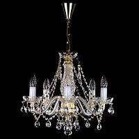 Хрустальная люстра для спальни, зала на 5 лампочек