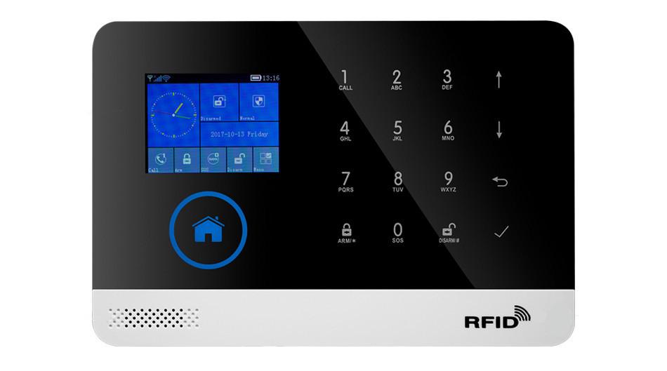 Сенсорная GSM сигнализация для дома с датчиком движения и WIFI Alarm JYX-W-G600