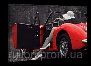 """Картина на холсте YS-Art XP013 """"Женщина 13, автомобиль"""" 50x70"""