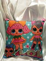 Подушка для детского творчества, рисование светом, подушка LOL бантик 30*30см