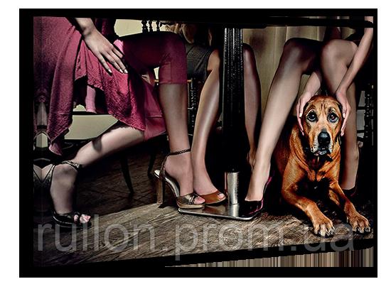 """Картина на холсте YS-Art XP017 """"Собаки под столом"""" 50x70"""