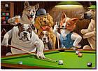 "Картина на холсте YS-Art XP018 ""Собаки в бильярде 1"" 50x70        , фото 2"