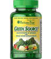 Puritan's Pride, Green source (Натуральные мультивитамины и минералы) 60 таб.