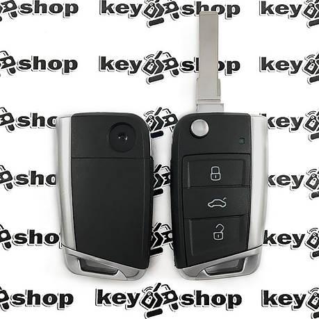 Корпус выкидного автоключа Seat (Сеат), 3 кнопки, лезо HU66, фото 2