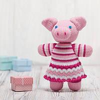 Вязаная кукла «Свинка Пуговка» ФРЕЯ