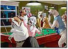 "Картина на холсте YS-Art XP021 ""Собаки в бильярде 4"" 50x70        , фото 2"