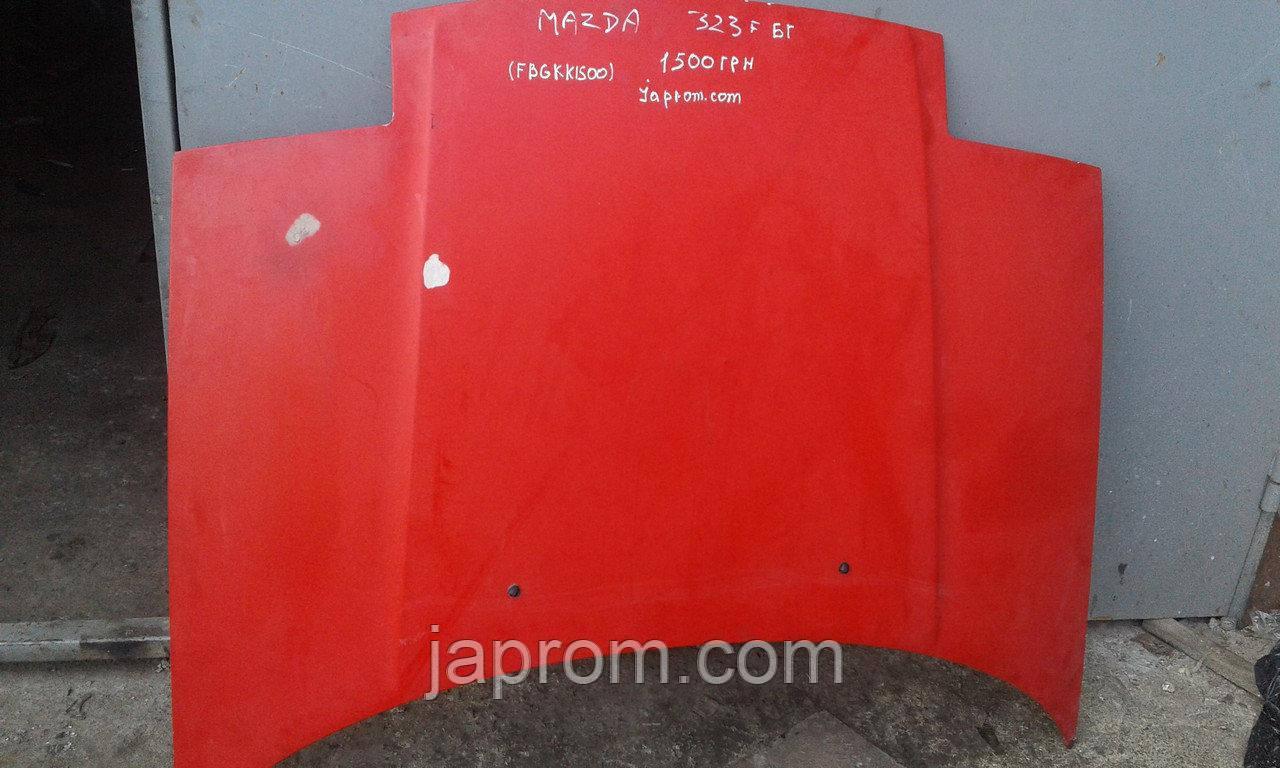 Капот(слепыш) Mazda 323 F BG 1988 - 1994 г.в. красный