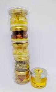 Ассорти меда с орехами в тубусе, 5 видов