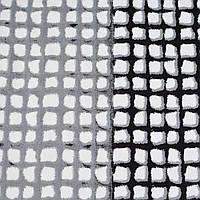 Котон з еластаном білий в сіро-чорні віконця ш.125 (12059.001)