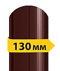 Штакетник металлический /с глянцевым полимерным покрытием/ двухсторонний RAL 8017  0,4мм