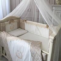 Детский постельный комплект De Lux бежевый