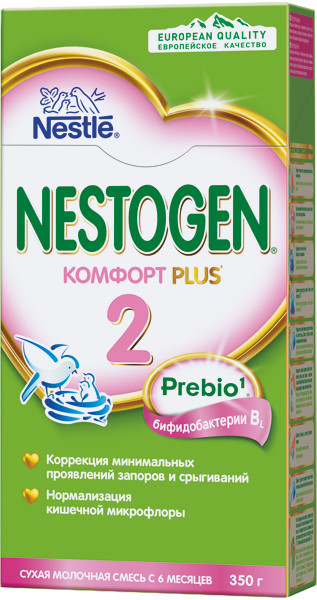 Смесь NESTOGEN COMFORT 2 с пребиотиками 350 гр