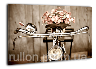 "Картина на холсте YS-Art XP029 ""Велосипед с цветами"" 50x70"
