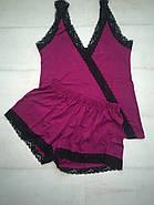 Вискозная пижама майка шортики, фото 4