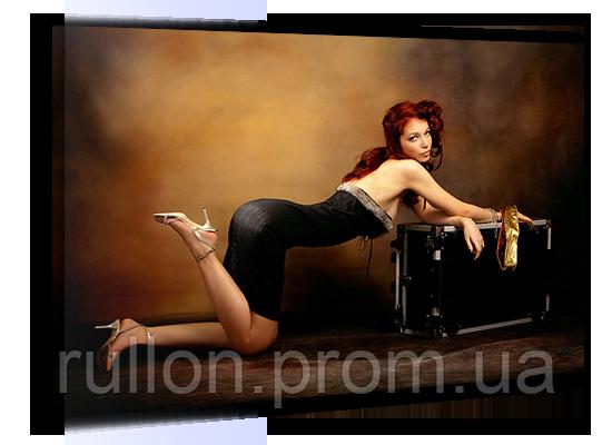 """Картина на холсте YS-Art XP031 """"Женщина с чемоданом"""" 50x70"""