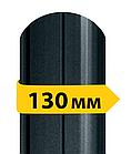 Штакетник металлический /с матовый полимерным покрытием/ двухсторонний RAL 8019, 7024  0,43мм