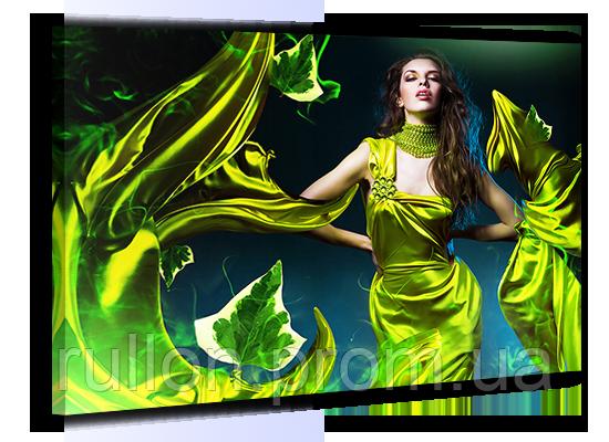 """Картина на холсте YS-Art XP033 """"Женщина в зелёном платье"""" 50x70"""