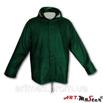 Высококачественная дождевая куртка ARTMAS зеленого цвета KPR-PU Green, фото 2
