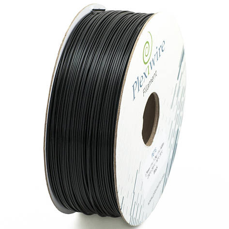 Пластик в котушці PLA 1,75 мм 1,185кг/400м Plexiwire Чорний, фото 2