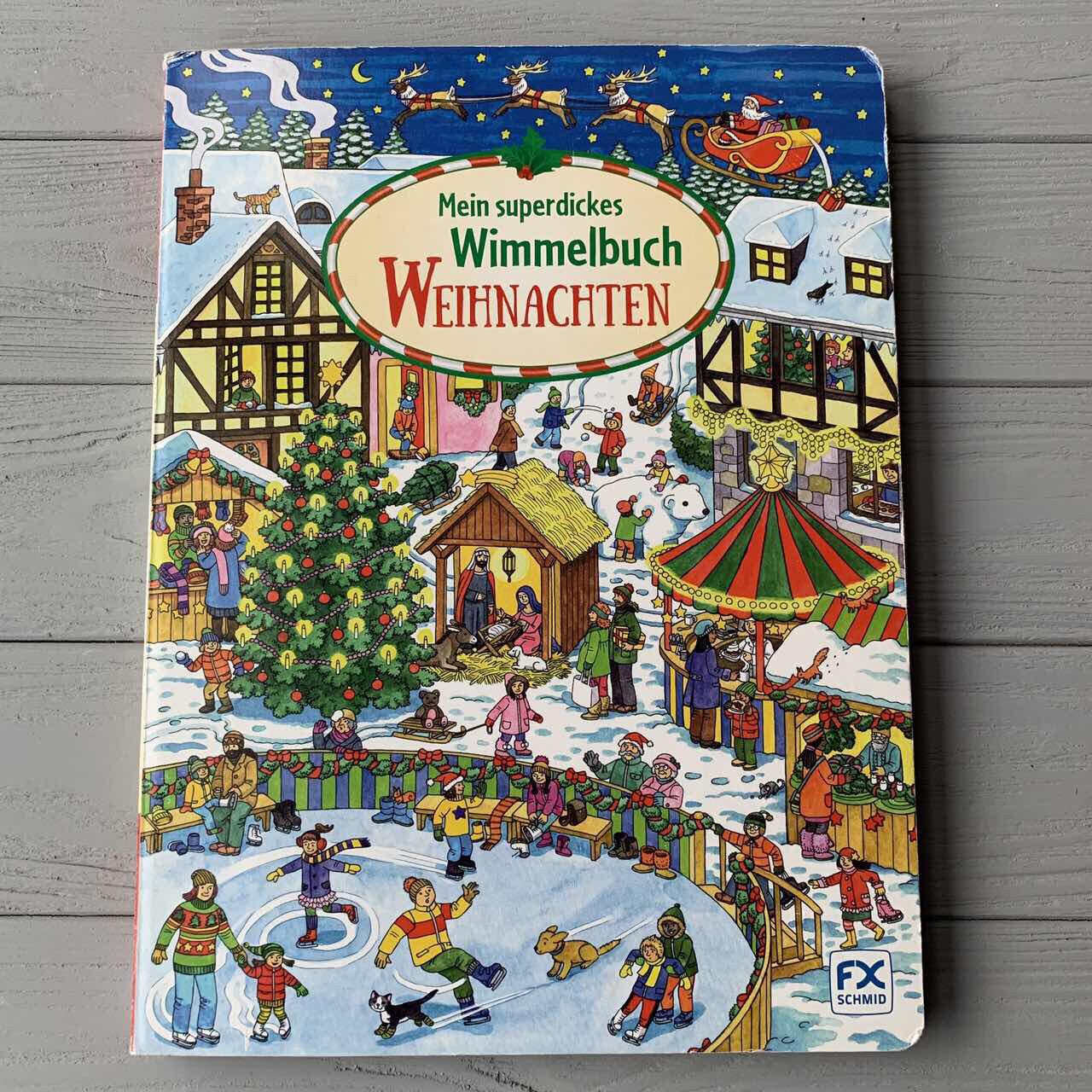 Детская книга Виммельбух рождественский, Mein Superdickers Weihnachten