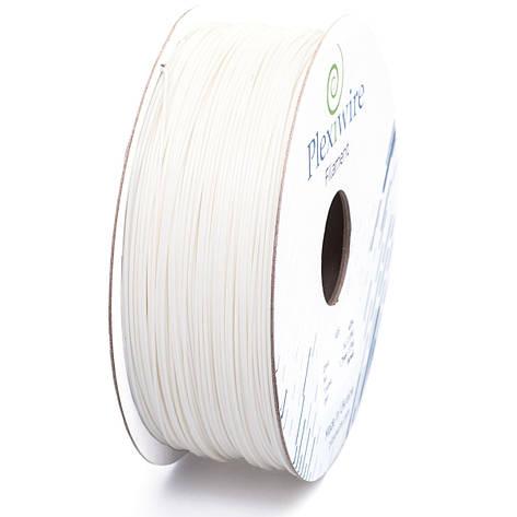 Пластик в котушці PLA 1,75 мм 1,185кг/400м Plexiwire Білий, фото 2
