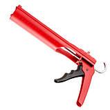 Пистолет для выдавливания силикона, усиленный пластик INTERTOOL HT-0027, фото 3