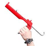 Пистолет для выдавливания силикона, усиленный пластик INTERTOOL HT-0027, фото 6