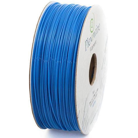 Пластик в котушці PLA 1,75 мм 1,185кг/400м Plexiwire Голубий, фото 2