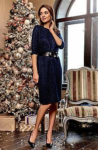 (S, M, L) Класичне вечірнє синє плаття Vikky