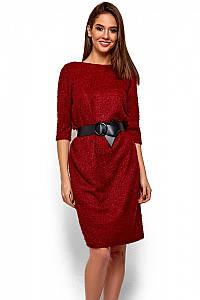 (S, M, L) Класичне вечірнє марсалове плаття Vikky