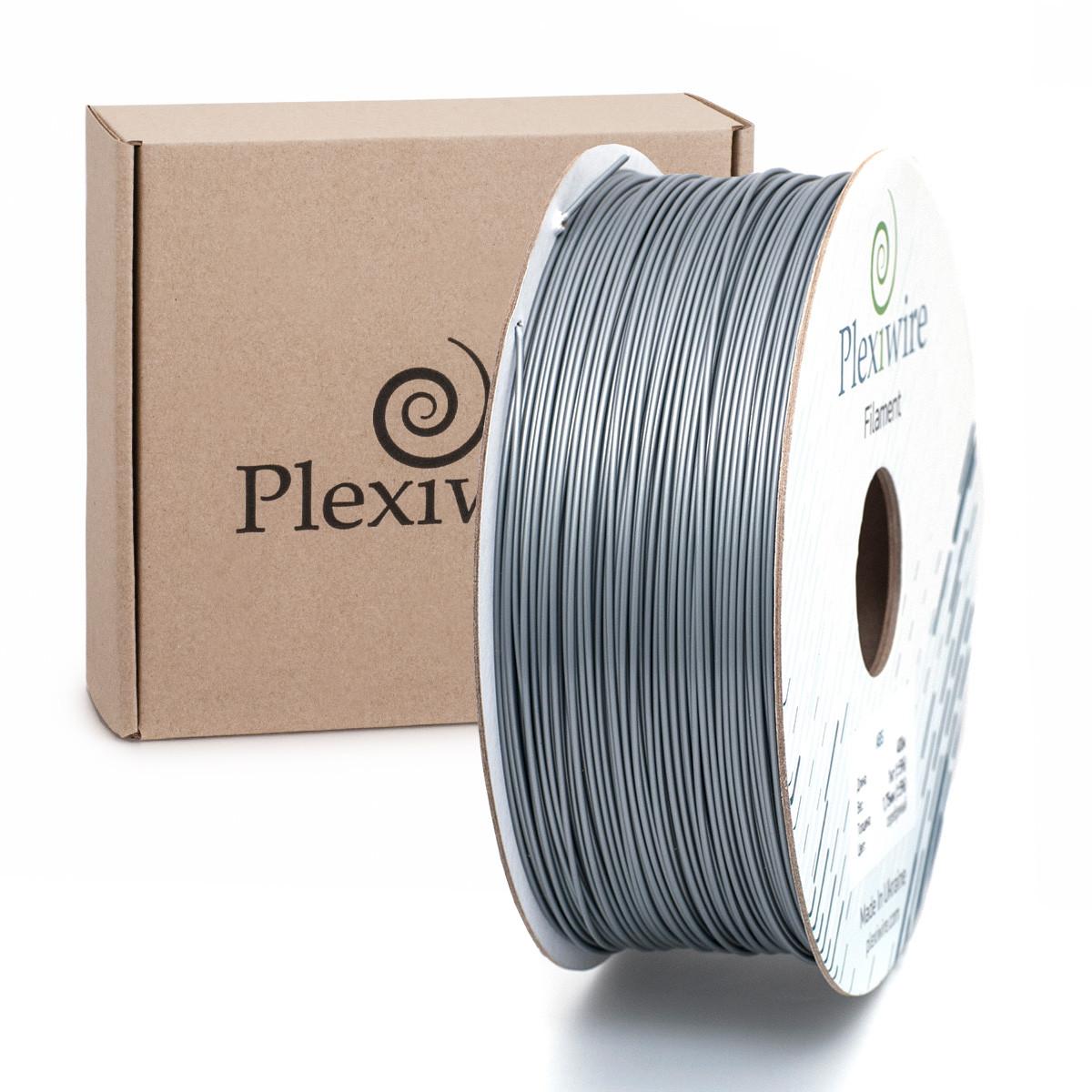 Пластик в котушці PLA 1,75 мм 1,185кг/400м Plexiwire Сірий