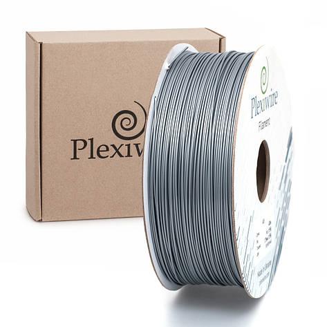 Пластик в котушці PLA 1,75 мм 1,185кг/400м Plexiwire Сірий, фото 2