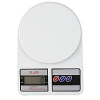 Электронные кухонные весы  SF- 400 с дисплеем на 10 кг + Батарейки