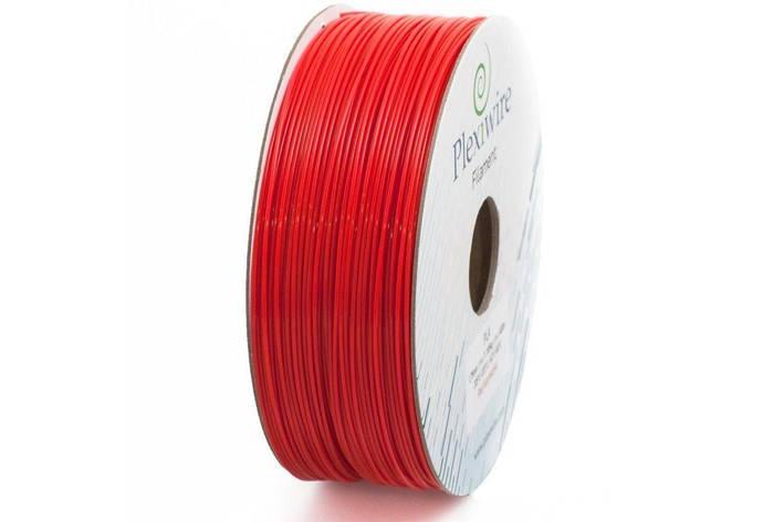 Пластик в котушці PLA 1,75 мм 1,185кг/400м Plexiwire Червоний, фото 2