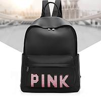 Рюкзак женский молодежный Pink черный, фото 1