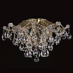 Зальная 8 ламповая хрустальная люстра