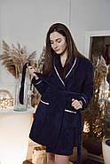 Женский домашний махровый халат, фото 2