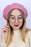 Берет Теона нежно-розовый