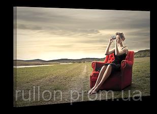 "Картина на холсте YS-Art XP098 ""Женщина на кресле в поле"" 50x70"