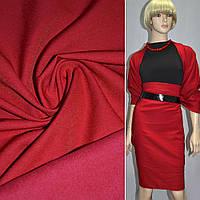 Коттон стрейч костюмный с начесом красный ш.140 ( 12200.092 )