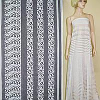 Кружевное полотно белое, двухсторонний купон ш.150 (12301.002)