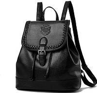 Женский Черный Рюкзак Кожзам — в Категории