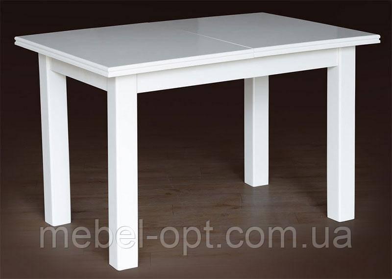 Деревянный обеденный стол Петрос, слонова кость 1200(+400)*800