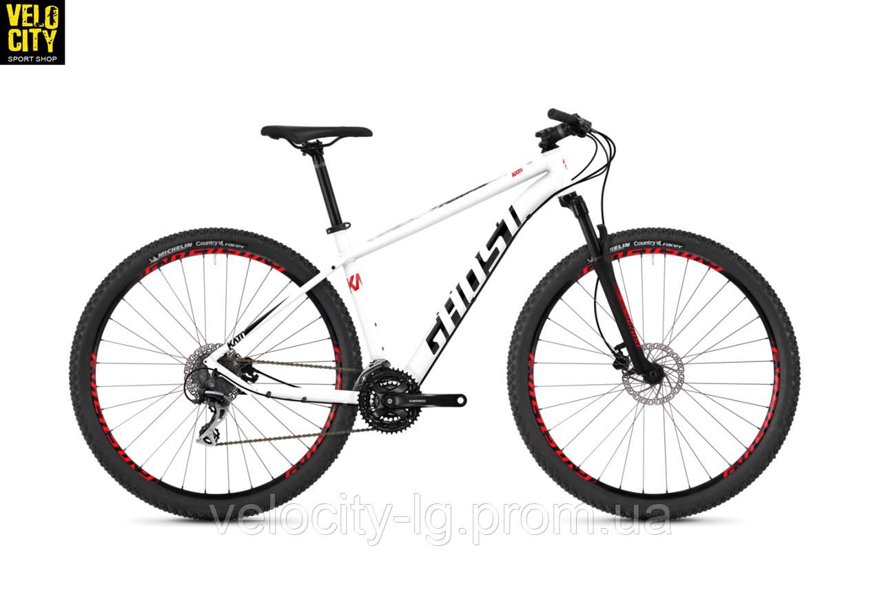 """Велосипед Ghost Kato 3.9 29"""" 2019 бело-черно-красный, фото 1"""
