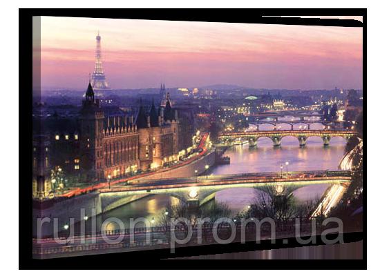 """Картина на холсте YS-Art XP100 """"Мосты через реку в городе"""" 50x70"""