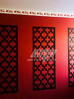 Интерьерные перегородки, декоративные панели, деревянные ширмы, резные экраны