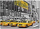 """Картина на холсте YS-Art XP101 """"Жёлтые такси"""" 50x70         , фото 2"""