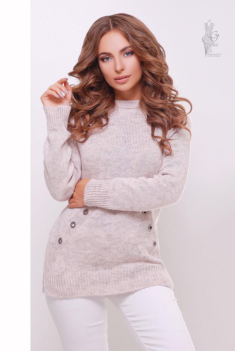 Женский свитер из шерсти и акрила Нони-3 меланж